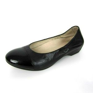 Dansko Lisanne Black Leather Ballet Flat 40 9.5 10